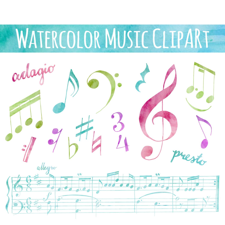 Music clipart hand drawn #4