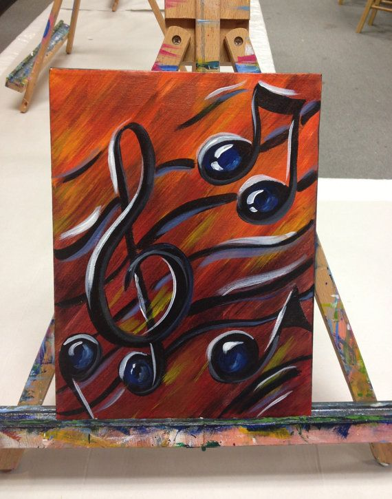 Drawn music notes old style Yo canvas make Notes ideas