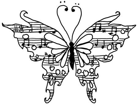 Drawn music notes old style Music 17 to More Best