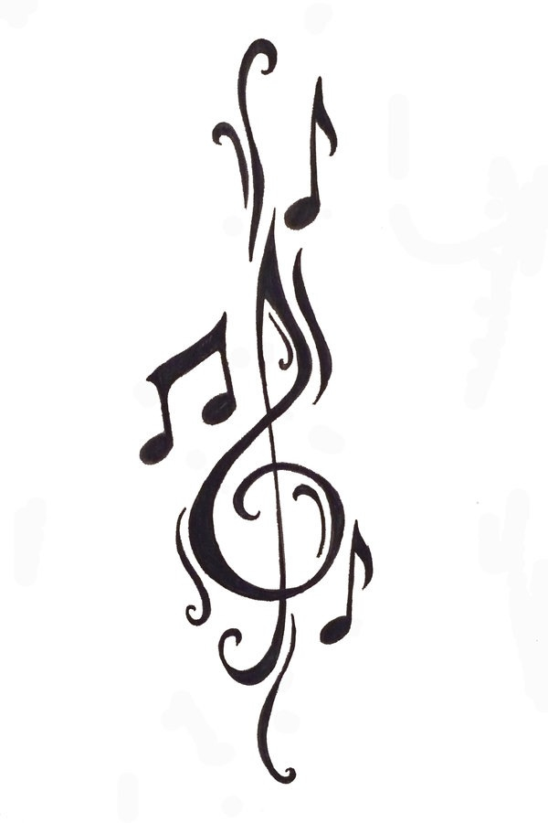 Drawn music notes one Dance Pulse Musical Sound Music