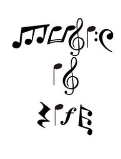 Drawn music notes orchestra These can be downloaded can