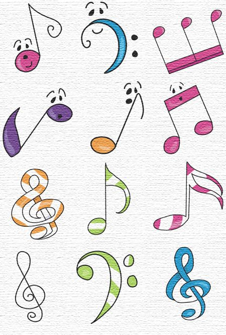 Drawn music notes orchestra And best orchestra images 232