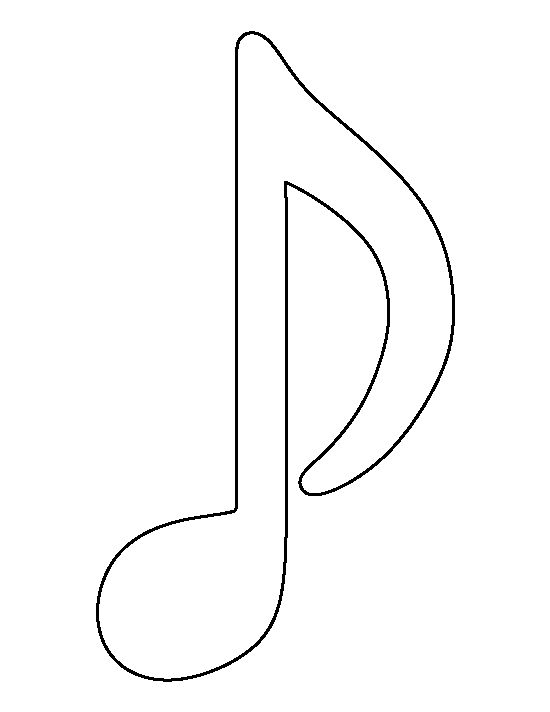 Drawn music notes outline The 25+ templates outline creating