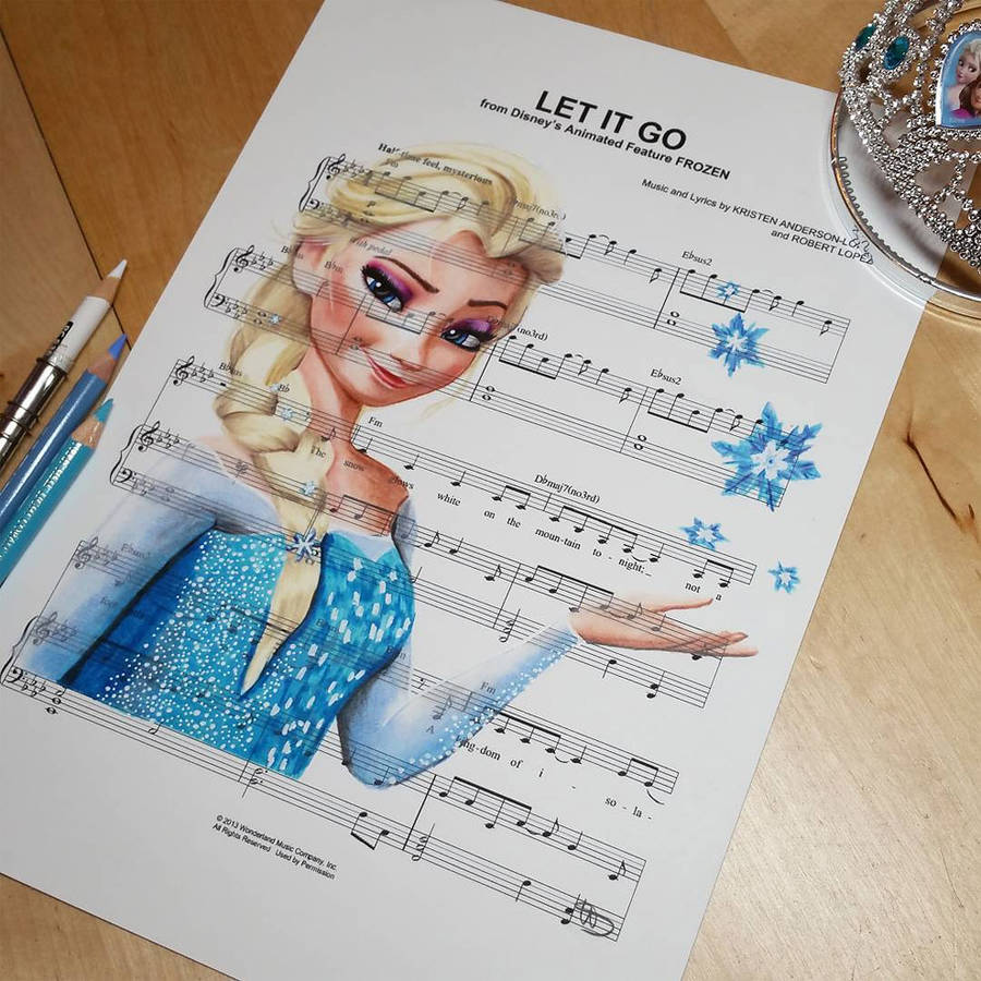 """Drawn musical paper Or drawn The """"Best and"""