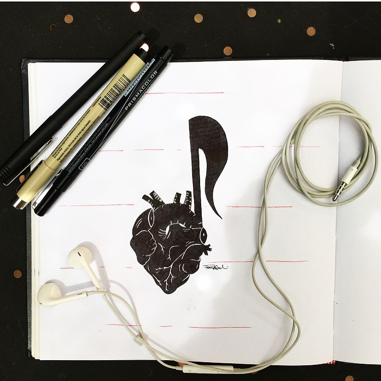 Drawn musician heart You drawing music drawing Can