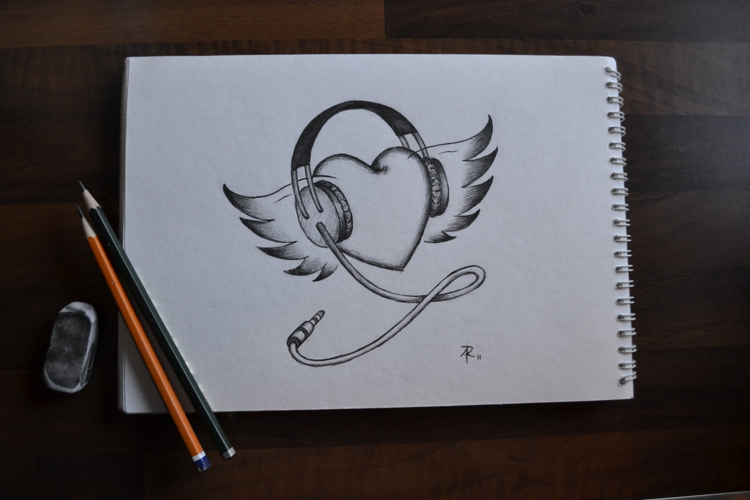 Drawn music For  Wings Me Me