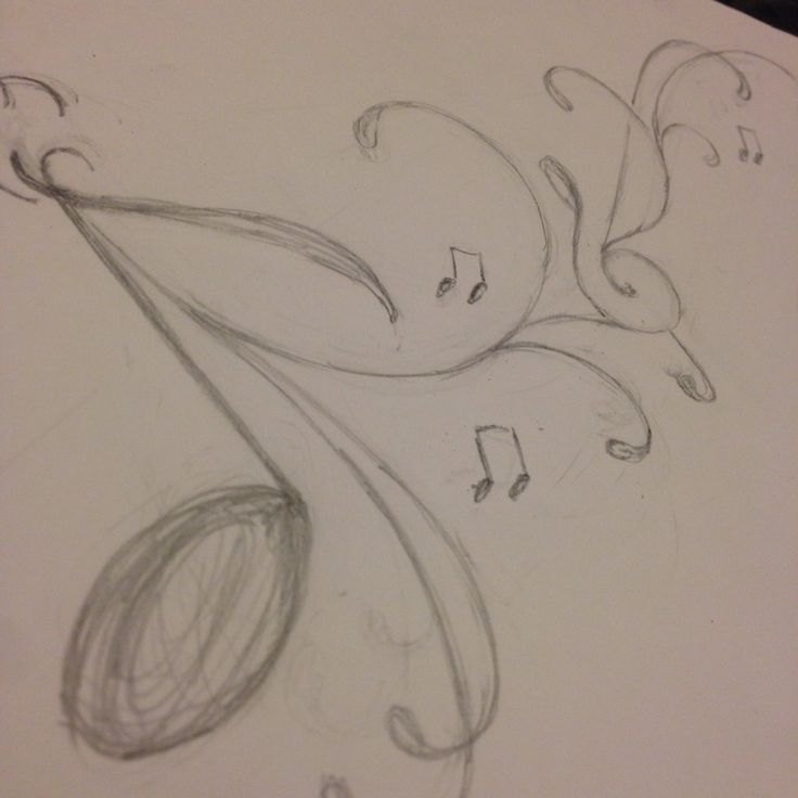Drawn music Notes on note Notes