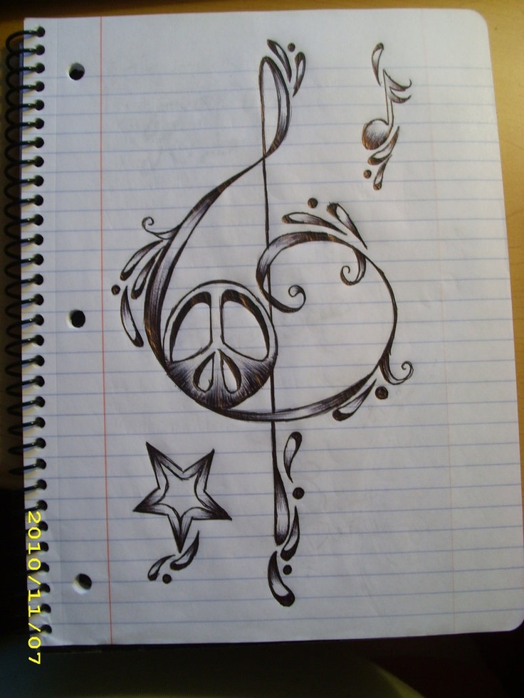 Drawn music pencil drawing Notes note Pinterest Music Music