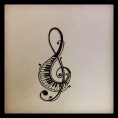 Drawn music notes piano Notes Pinterest Panda Tattoos Rhapsody
