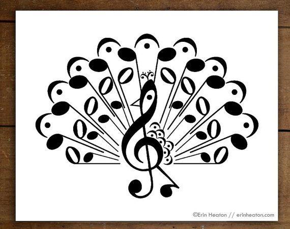 Drawn music notes printable 25+ wall / 5x7 Fine