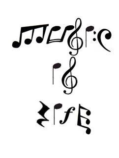 Drawn music notes printable Ideas creative! Life