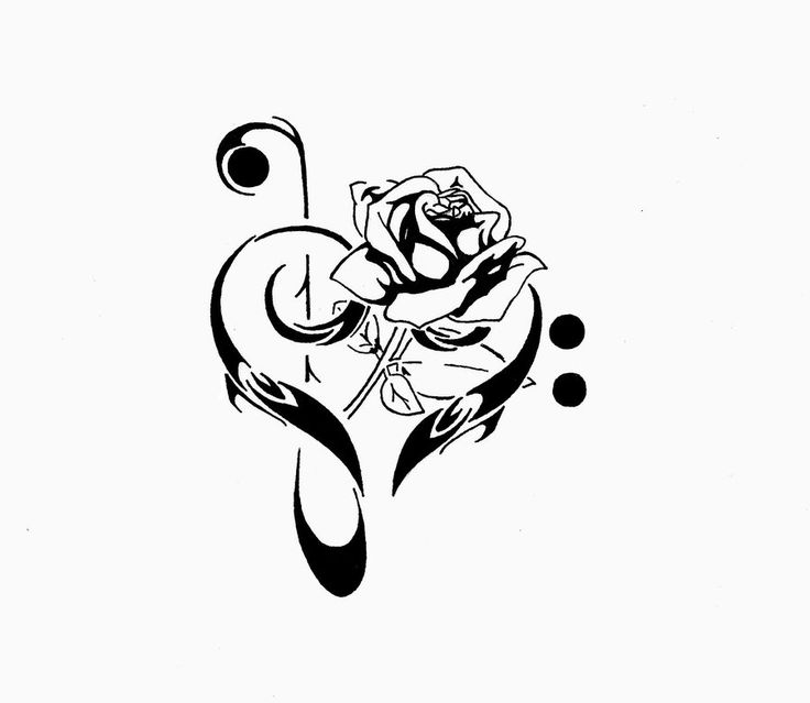Drawn music notes profile Best inspired tattoos Mary get