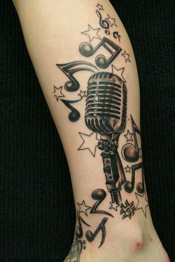 Drawn music notes radio microphone Pinterest images Mic Rockabilly 25