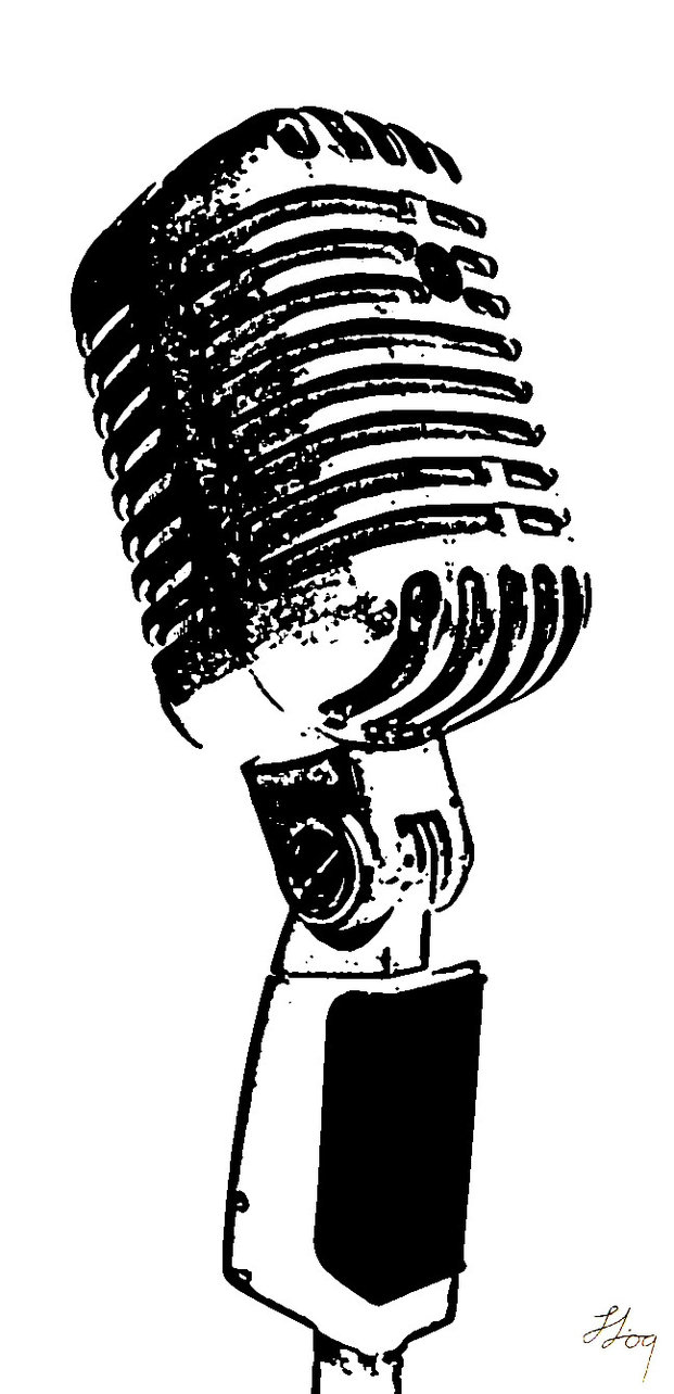 Drawn music notes radio microphone Google Search Pinterest Gallery drawing