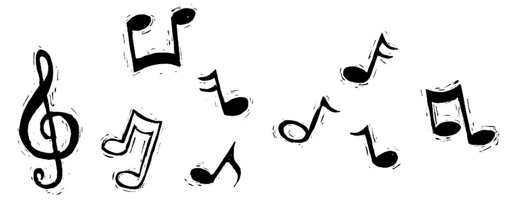 Drawn music notes rap music Clip Clipart on Image library