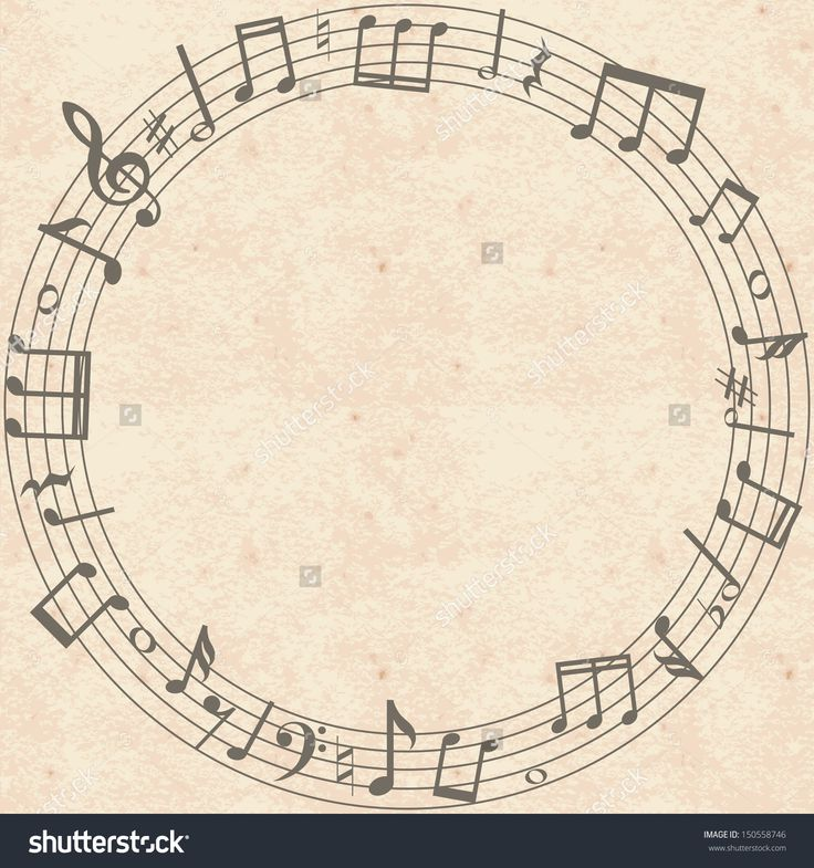 Drawn music notes retro About Best Grunge & letters