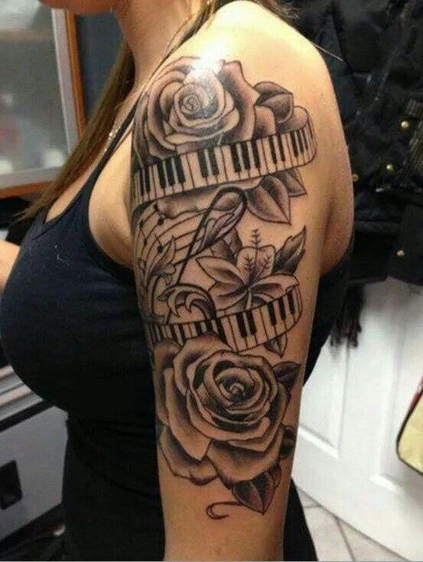 Drawn music notes ribbon 25+ Awesome Tattoos Pinterest on