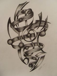 Drawn music notes ribbon Treble ribbon ribbon notes of