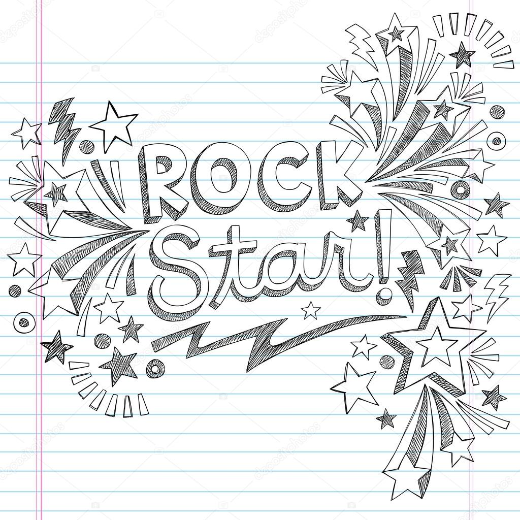 Drawn music notes rock star Notes Sketchy with Rock Notebook