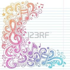 Drawn music notes rock star Phone Clef music Cell