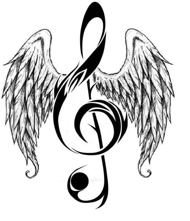 Drawn music notes rock star Music WITH Music 25+ ANGELWINGS