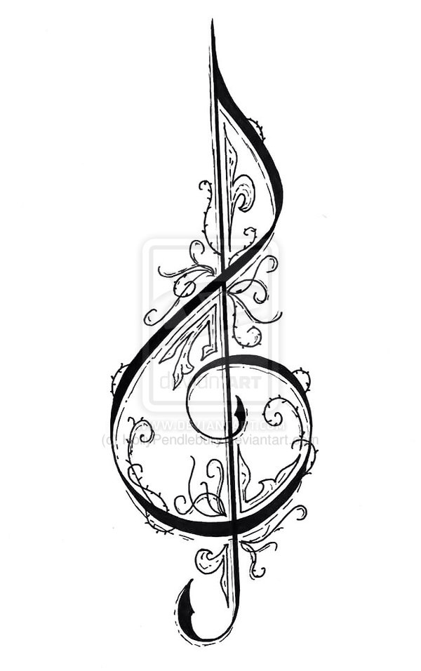 Drawn music notes sheet music Graphics Pin clef and and