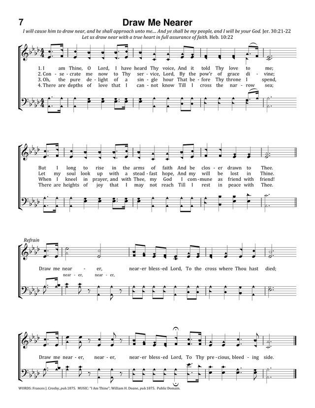 Drawn music notes sheet music 10 Songs: Nearer for Hymnary