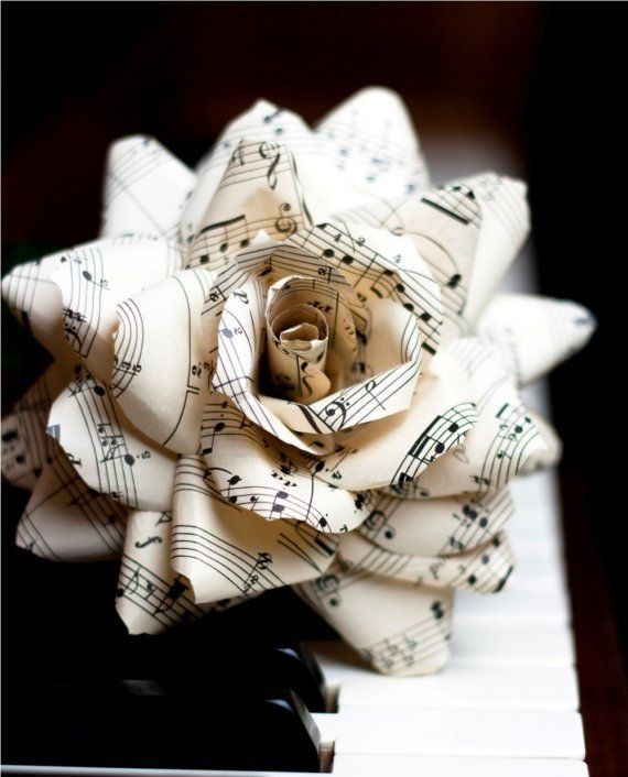 Drawn music notes sheet music 25+ Upcycled flowers Sheet ideas