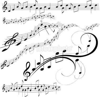 Drawn music notes sheet music 272 Tattoo about Designs Music