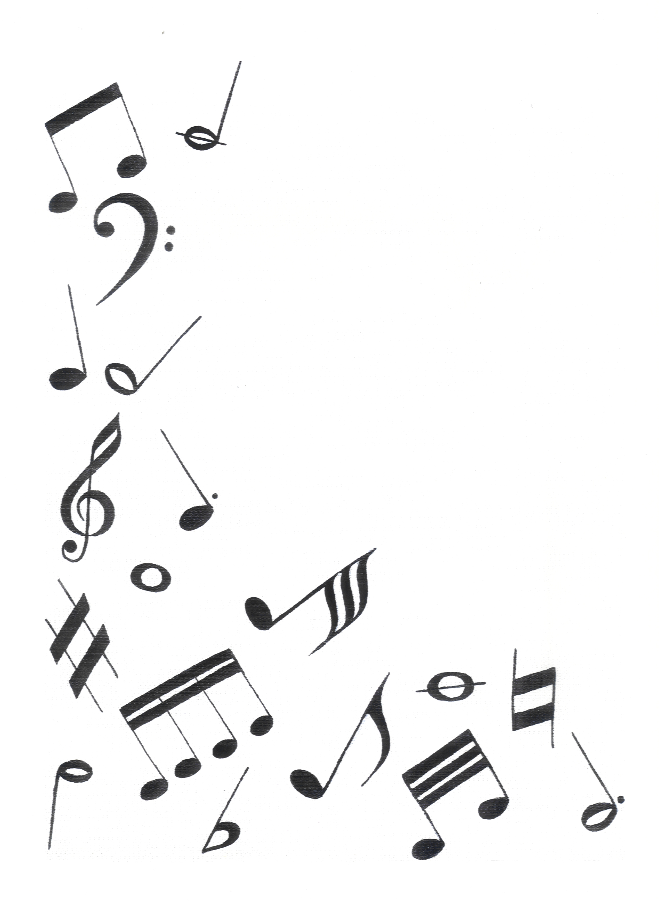 Drawn music notes simple 1 « notes music KPWms