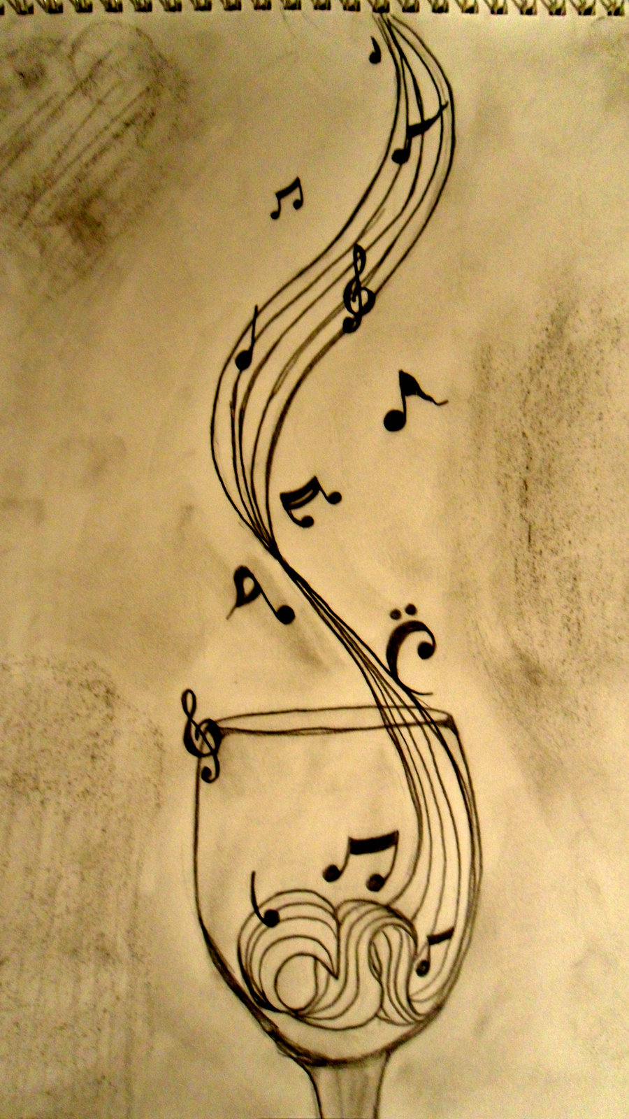 Drawn music notes sketched Download Sketch Art Note Drawing