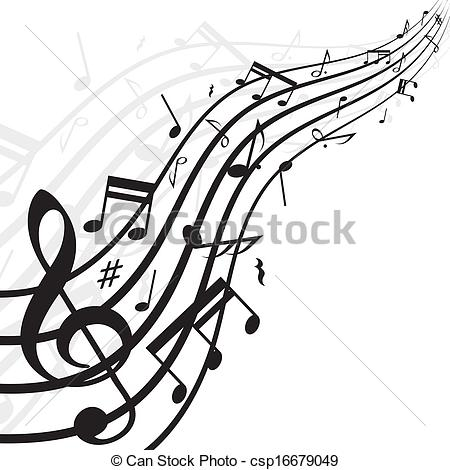 Drawn music notes sketched Background of csp16679049 background with