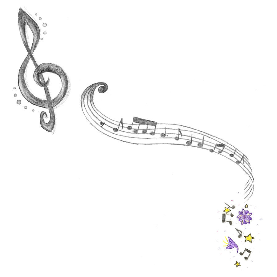 Drawn music notes sketched Photo Drawing  Music Tattoo