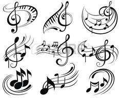 Drawn music notes small Music Vector Music Pinterest images