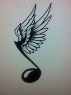 Drawn music notes small Through Light Peace MUSICNOTE ANGELWINGS