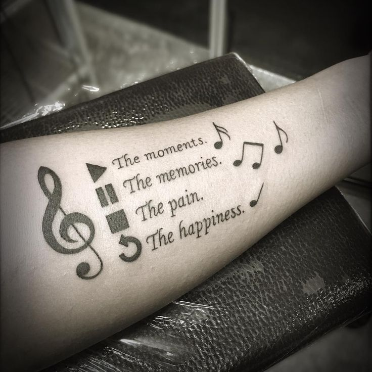 Drawn music notes small For Designs 100 tattoos Pinterest