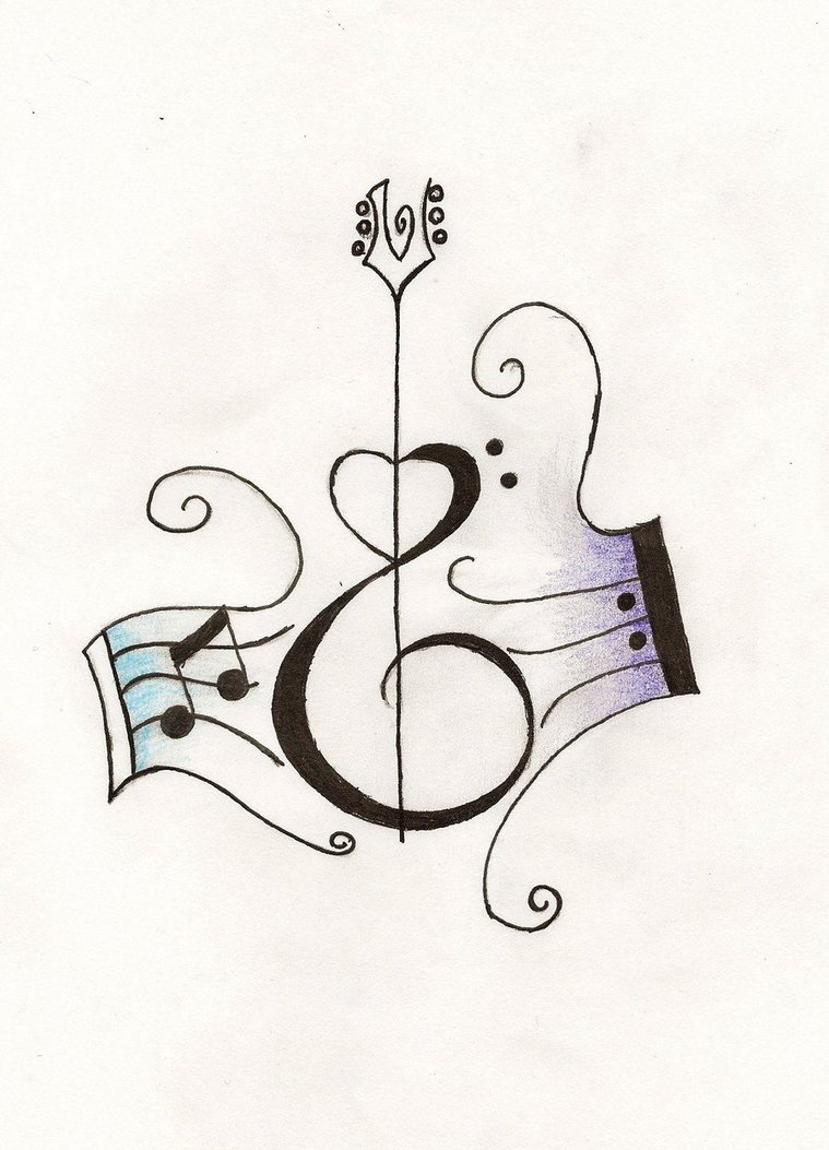 Drawn music notes small (LARGE back on tattoos Tattoo
