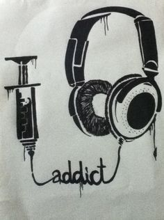 Drawn musical headphone 25+ Pinterest Music best on