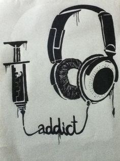 Drawn musician headphone Music best Pinterest zoeken 25+