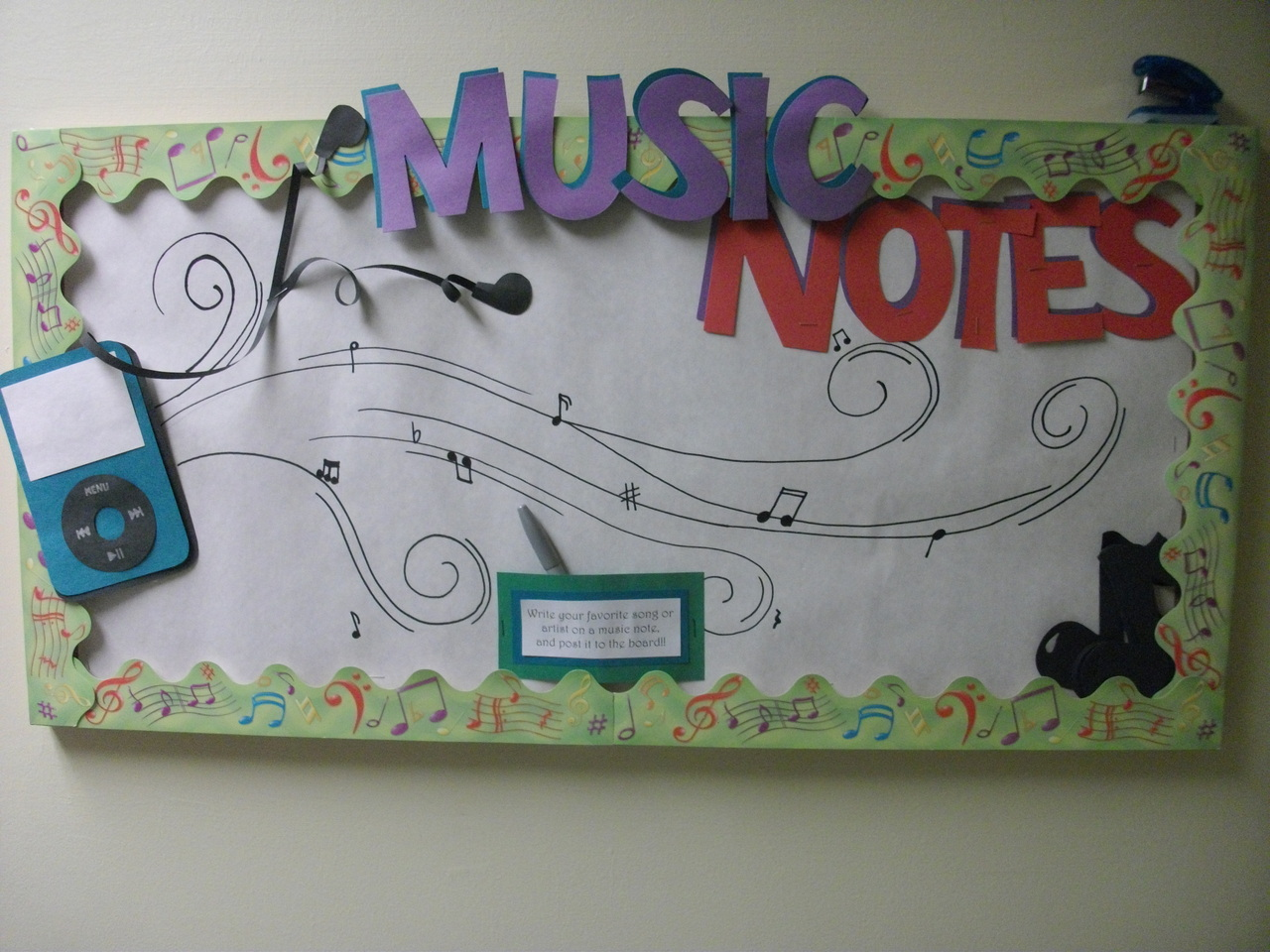 """Drawn music notes song Songs or their favorite """"Music"""