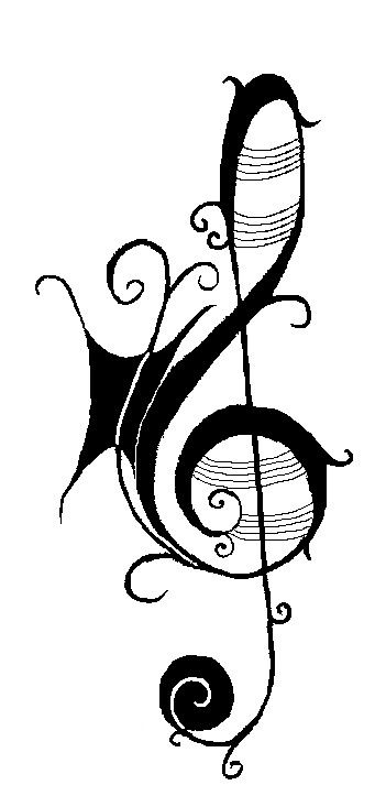 Drawn music notes stencil Find stencils Music more Pin