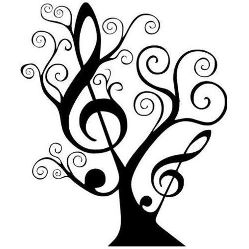Drawn music notes stencil Design MUSIC great a great