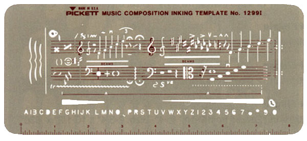 Drawn music notes stencil 1299i music student History for