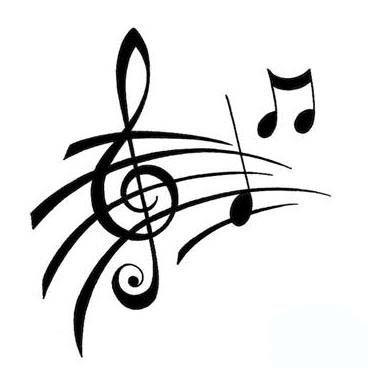Drawn music notes stencil Images about Dessins Pinterest 278