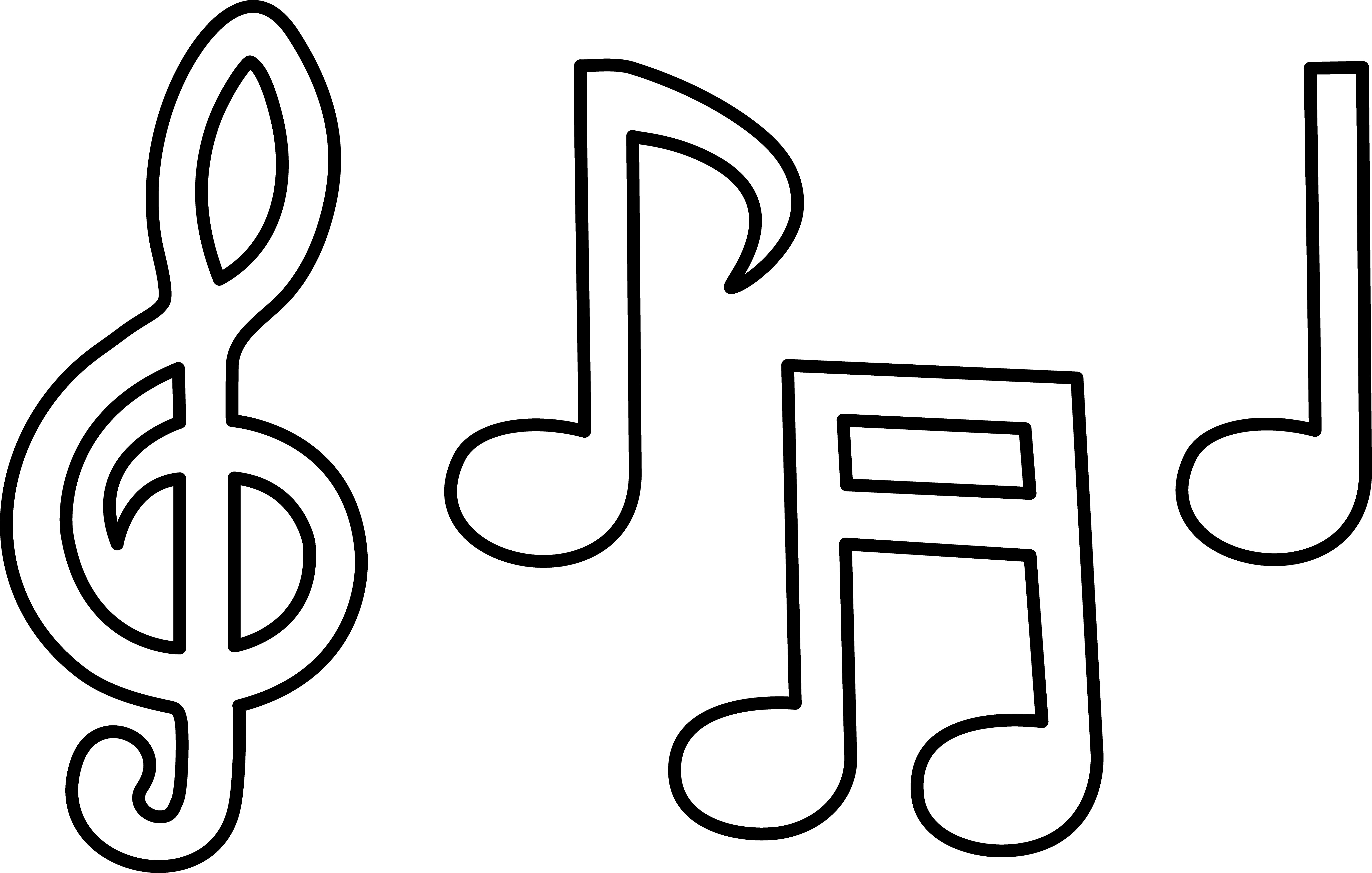 Drawn music notes stencil More Printable Music Music of