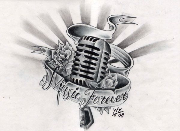 Drawn musical music mic Pinterest of images Commission symmetrical