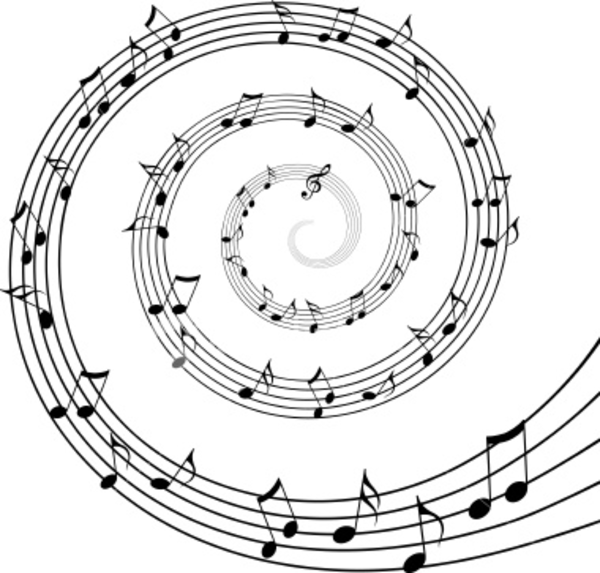 Drawn music notes swirl Download Music at this image