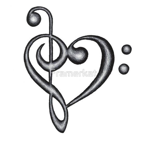 Drawn music notes symbol Symbol Treble Drawn Clef Treble