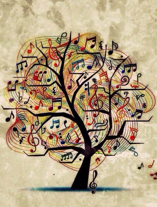 Drawn music notes symbol art #11