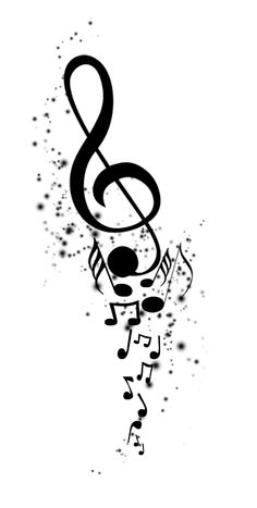 Drawn music notes symbol art #4